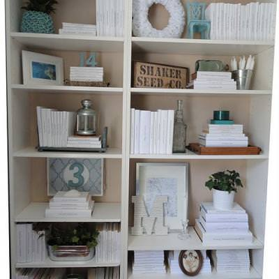 How to Style a Bookcase {organization}