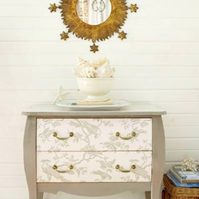 How to Wallpaper a Dresser {diy dressers}