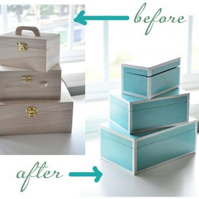Laquer Lookalike Boxes DIY {Decorative Boxes}