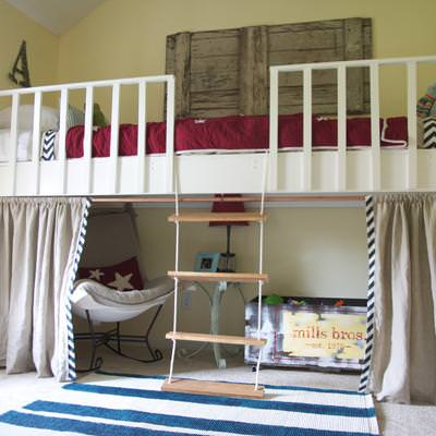 Loft Bed and Alcove {Before and After}