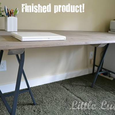 Make Your Own Craft Table {how to build a table}