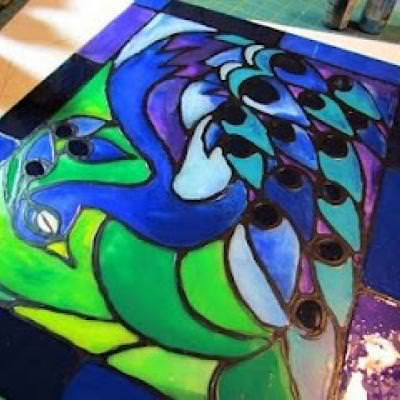 Make Your Own Stained Glass {artwork}