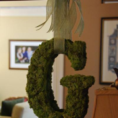 Moss Letters {Pottery Barn Hack}