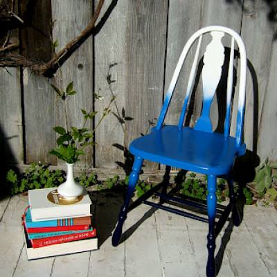 Ombre Accent Chair DIY {Occasional Chairs}