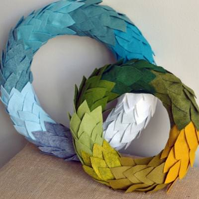 Ombre Wreath {tutorial}