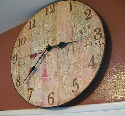 Paint Chip Clock {decoupage}
