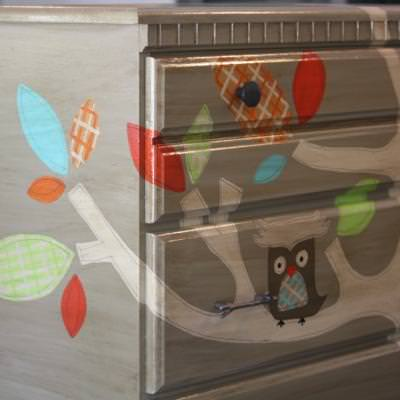 Painting Woodsy Themed Furniture {nursery}