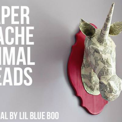 Papier Mache Animal Heads {Anthropologie Hack}