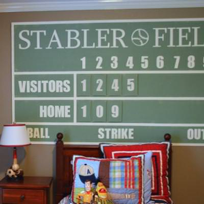 Personalized Baseball Scoreboard {tutorial}