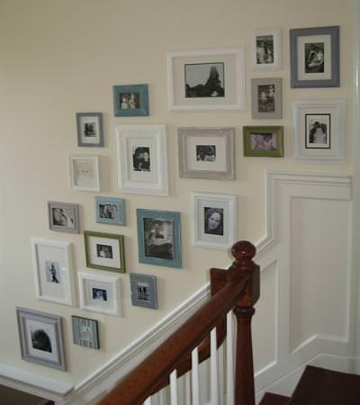 Picture Frame Gallery Wall {diy wall decor} | Tip Junkie