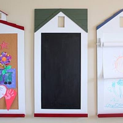 Pottery Barn Kids Inspired Schoolhouse Craft Center {tutorial}