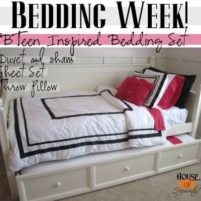 Pottery Barn Teen Bedding Tutorial {Pottery Barn Hack}