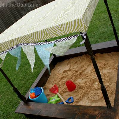 Sand Box {inspired by Pottery Barn Kids}