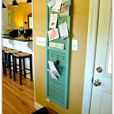 Shutter turned Home Office Central {Shutters}