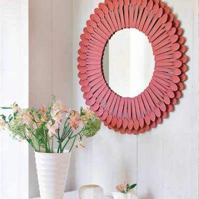 Spoon Sunburst Mirror {diy mirror}