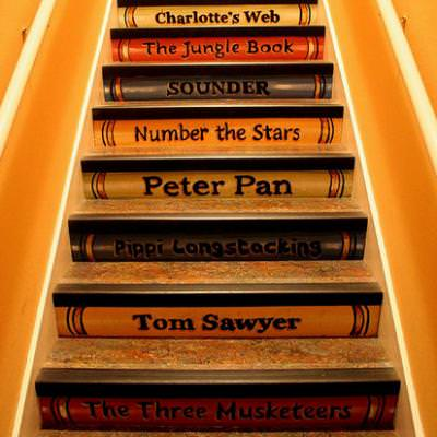 Storybook Painted Staircase {staircase}