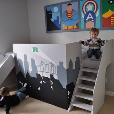 Superhero Room {boys bedroom}