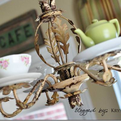 vintage lighting doubleteacup fixtures custom teacups double products teacup light chandelier