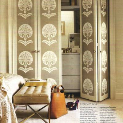 Wallpapered Closet Doors {closet}