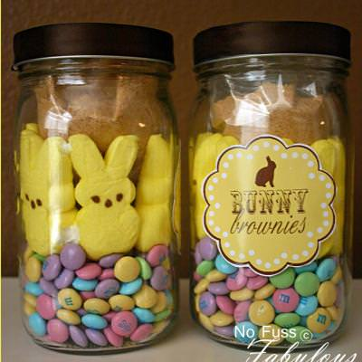 Brownie Bunnies in a Jar and Printable