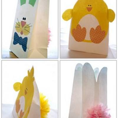 Bunny and Chick Easter Bags download  {printable}