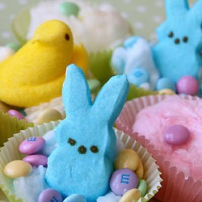Cotton Candy Easter Treats