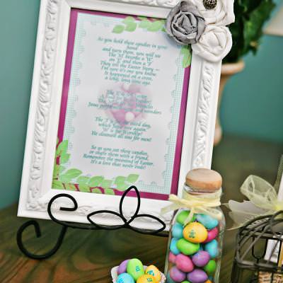 Easter Candy Printable {Easter Poem}