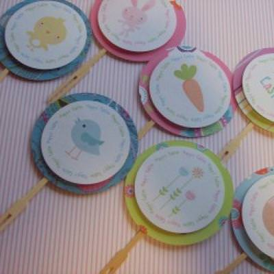 Easter Cupcake Toppers {Easter Printables}