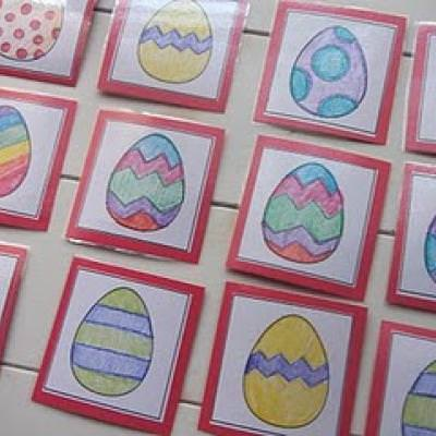 Easter Egg Matching Game {Easter Fun}