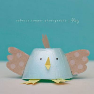 Egg Carton Bunny and Chick {craft for kids}