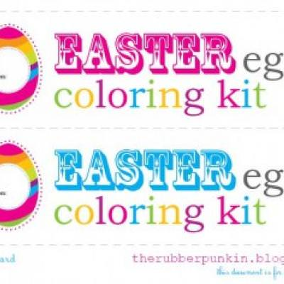 Egg Coloring Easter Party {Easter Printables}