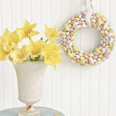 How to Make a Spring Wreath Out Of Sugar Dragees