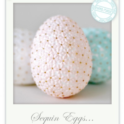 Sequin Easter Eggs {Easter-Crafting}