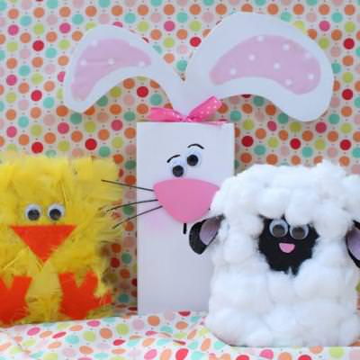 spring animal 2x4s kids easter crafts tip junkie. Black Bedroom Furniture Sets. Home Design Ideas