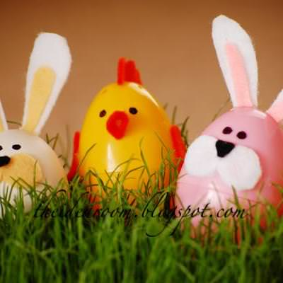 Use Felt To Make Easter Egg Animals {activity}