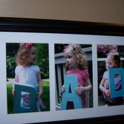D.A.D. Father's Day Portrait {homemade gift}