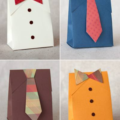 DIY Shirt and Tie Gift Bags {Printable Templates}