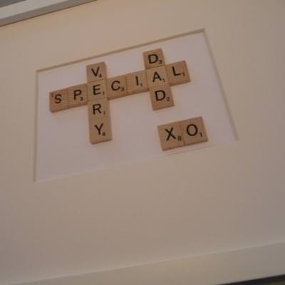 Father's Day Craft: Scrabble Letter word art