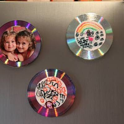 Father's Day Magnet CD {kid crafts}