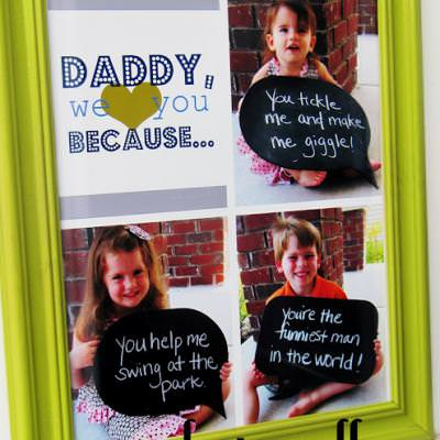 Father's Day Photo Collage {Pictures}