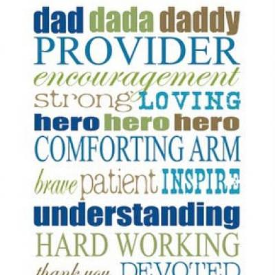Father's Day Subway Art {Happy Father Day}