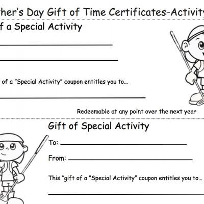 Gift of Time Coupons for Dad {Printable Gift Coupons}