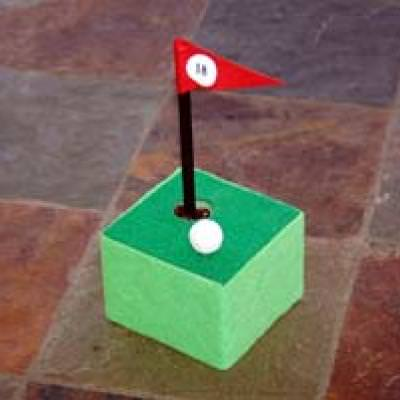 Golf Course Pen Holder {Fathers Day Projects for Kids}