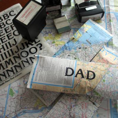 Map Gift Wrap for Dad {Present Wrap}