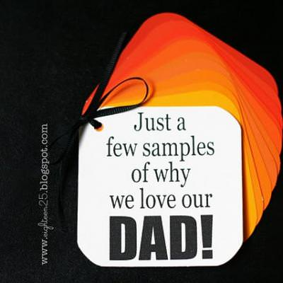 Paint Sample Father's Day Card {Printable Father's Day Crafts}