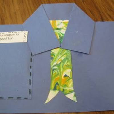 Shirt Pocket Gift Coupons {Fathers Day Crafts Preschool}