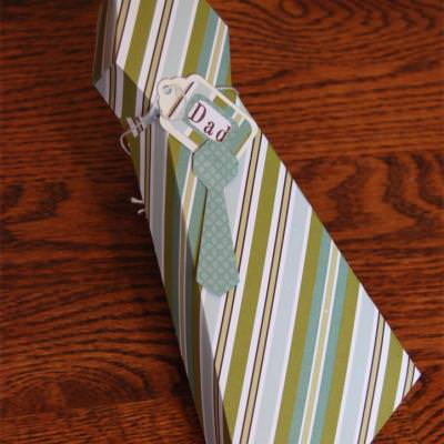 Tie Gift Box Template {Father's Day Present Wrap}