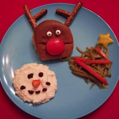 Christmas Dinners for Kids {Christmas Edible Crafts}