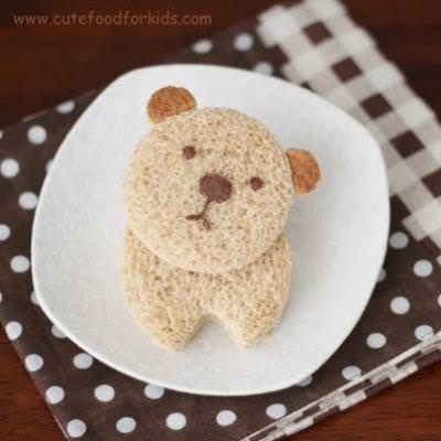 Bear Sandwich {Kids Edible Crafts}