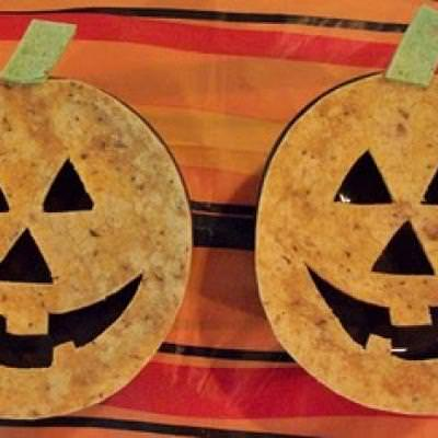 Black Bean Soup with Toasted Jack-O-Laterns {Halloween Food}